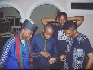 QOTD!!! Who Do You Think Reminisce Looks Like In This Throwback Photo With Sarz And Jahbless?